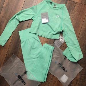 Gymshark vital leggings and crop top